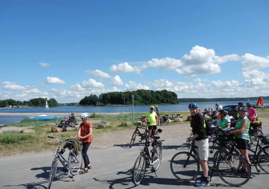 Cykelkursus på Rønshoved Højskole ved Okseøerne