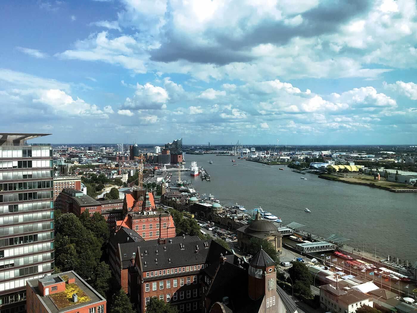 Byvandringer med Rønshoved Højskole i millionmetropolen Hamborg